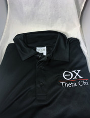 Theta Chi Fraternity Dri-Fit Polo- Black