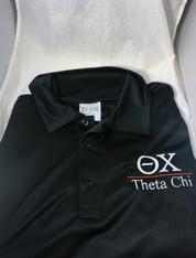 Theta Chi Fraternity Dri-Fit Polo- Black