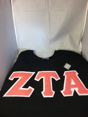 Shirt Inspiration Sorority Double Stitched Letter Shirt- Red Glitter