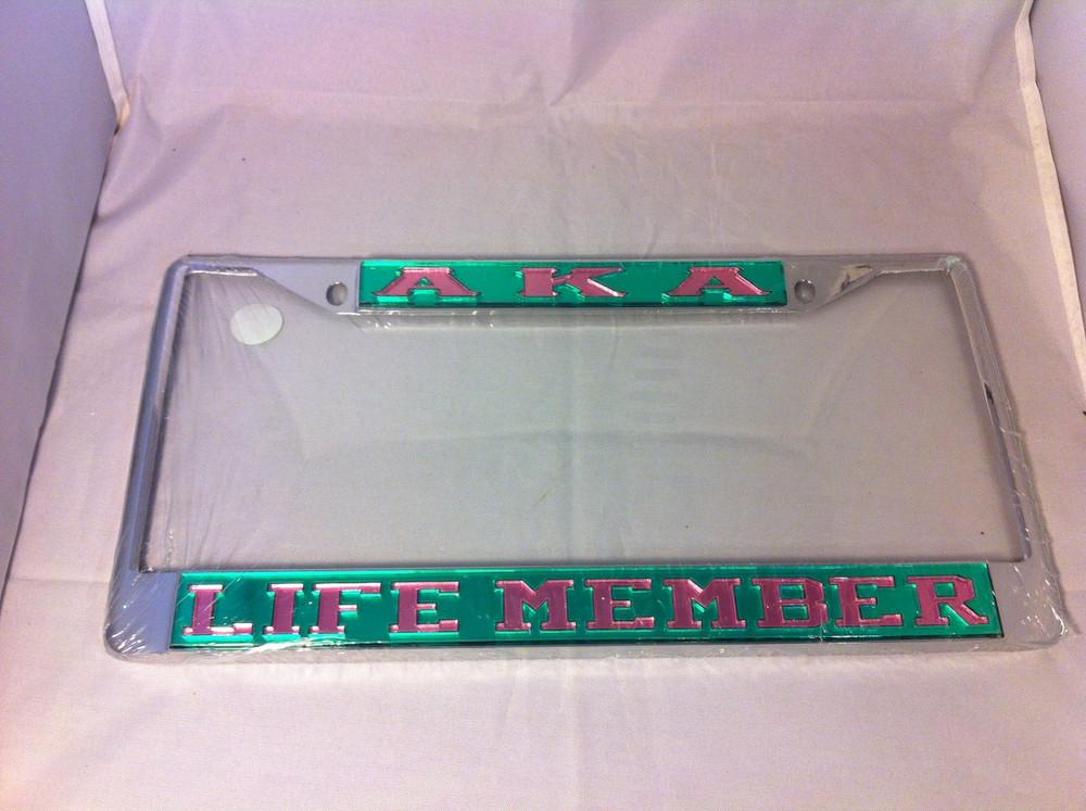 Alpha Kappa Alpha Sorority Life Member License Plate Frame