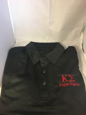 Kappa Sigma Fraternity Dri-Fit Polo- Black