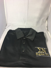 Sigma Nu Fraternity Dri-Fit Polo- Black