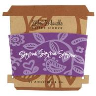 Sigma Sigma Sigma Tri-Sigma Sorority Coffee Sleeve