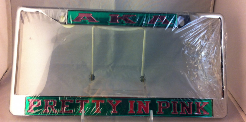 Alpha Kappa Alpha Sorority Quot Pretty In Pink Quot License Plate