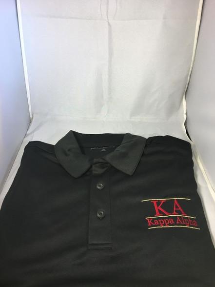 Kappa Alpha Fraternity Dri-Fit Polo- Black