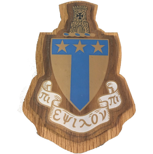 Alpha Tau Omega Fraternity Raised Wood Crest