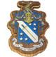 Phi Delta Theta Fraternity Raised Wood Crest