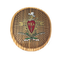 Pi Kappa Alpha PIKE Fraternity Raised Wood Crest