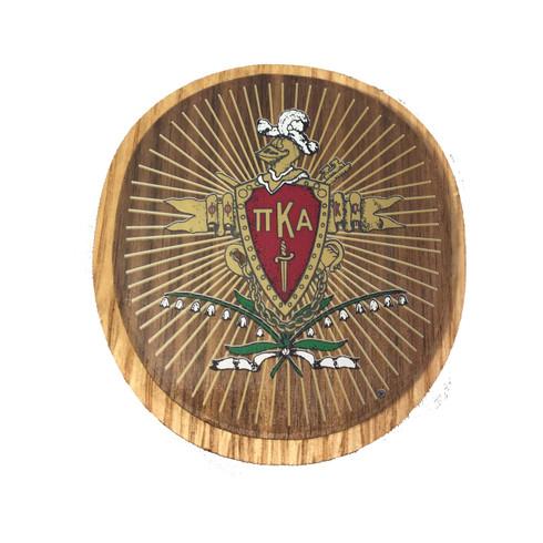 Pi Kappa Alpha PIKE Fraternity Raised Wood Crest