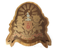 Kappa Alpha Fraternity Raised Wood Crest