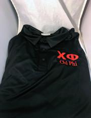 Chi Phi Fraternity Dri-Fit Polo- Black