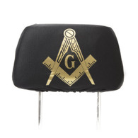 Mason Masonic Headrest Cover- Set of 2