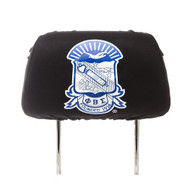 Phi Beta Sigma Fraternity Headrest Cover- Black-Set of 2