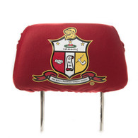 Kappa Alpha Psi Fraternity Headrest Cover- Crimson- Set of 2