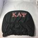 Kappa Alpha Psi Fraternity Headrest Cover- Black- Set of 2-Back