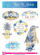 Theta Phi Alpha Sorority Stickers- Water Color