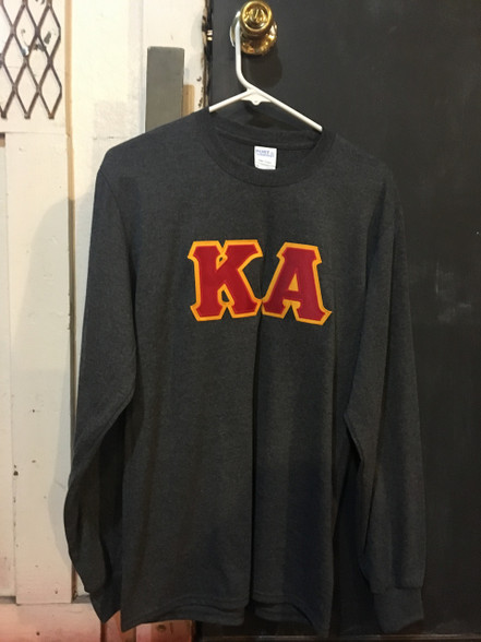 Kappa Alpha Fraternity Long Sleeve Shirt- Charcoal Heather
