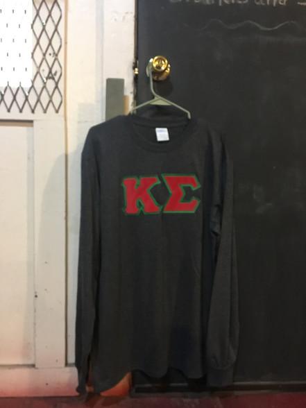 Kappa Sigma Fraternity Long Sleeve Shirt- Charcoal Heather