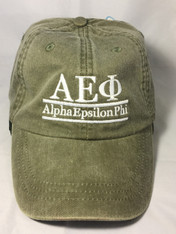 Alpha Epsilon Phi AEPHI Sorority Hat- Olive Green