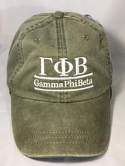 Gamma Phi Beta Sorority Hat- Olive Green