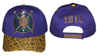 Omega Psi Phi Fraternity Hat with Detailed Bill