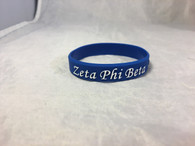 Zeta Phi Beta Sorority Silicone Bracelet- Blue