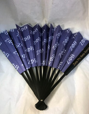 Zeta Phi Beta Sorority Silk Fan