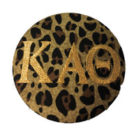 Fabric Button Inspiration- Cheetah Print Metallic Gold