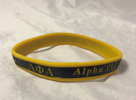 Alpha Phi Alpha Fraternity Two-Tone Silicone Bracelet
