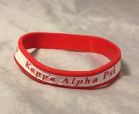 Kappa Alpha Psi Fraternity Two-Tone Silicone Bracelet