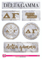 Delta Gamma Sorority Stickers- Marble