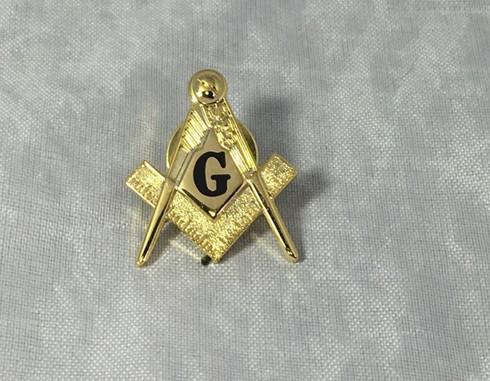 Mason Masonic Black Symbol Lapel Pin