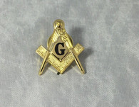 Mason Masonic Black Symbol Lapel Pin