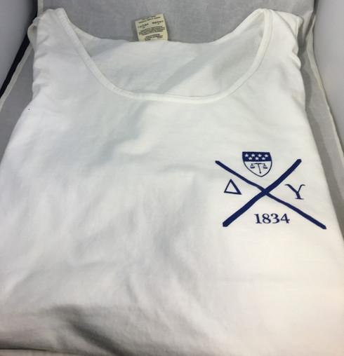 Delta Upsilon Fraternity Tank Top- White
