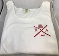 Kappa Alpha Fraternity Tank Top- White