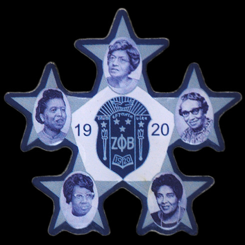 Zeta Phi Beta Sorority Founders Lapel Pin Brothers And