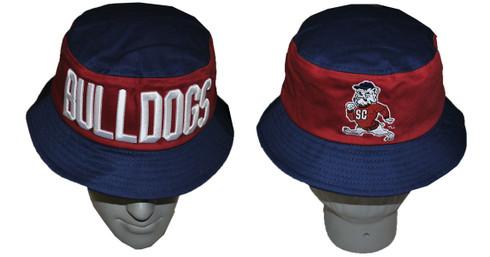 South Carolina State University Bucket Hat with Stripe- Style 1