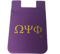 Omega Psi Phi Fraternity Silicone Wallet