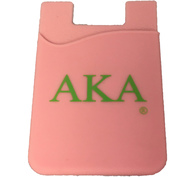 Alpha Kappa Alpha AKA Sorority Silicone Wallet- Pink