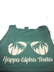Kappa Alpha Theta Sorority Sunglass Tank Top- Seafoam