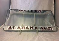 Alabama A&M University Bulldogs Silver/Maroon License Plate Frame