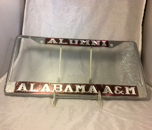 Alabama A&M Alumni Alabama A&M Maroon/Silver License Plate Frame