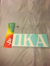Pi Kappa Alpha PIKE Fraternity White Car Letters- 3 1/2 inches