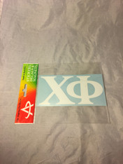 Chi Phi Fraternity White Car Letters- 3 1/2 inches