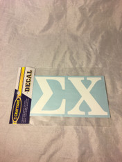 Sigma Chi Fraternity White Car Letters- 3 1/2 inches