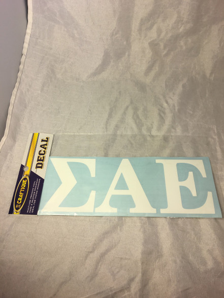 Sigma Alpha Epsilon SAE Fraternity White Car Letters- 3 1/2 inches