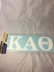 Kappa Alpha Theta Sorority White Car Letters- 3 1/2 inches