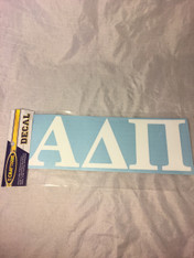 Alpha Delta Pi ADPI Sorority White Car Letters- 3 1/2 inches