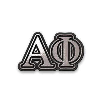 Alpha Phi Sorority Chrome Car Emblem
