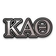 Kappa Alpha Theta Sorority Chrome Car Emblem